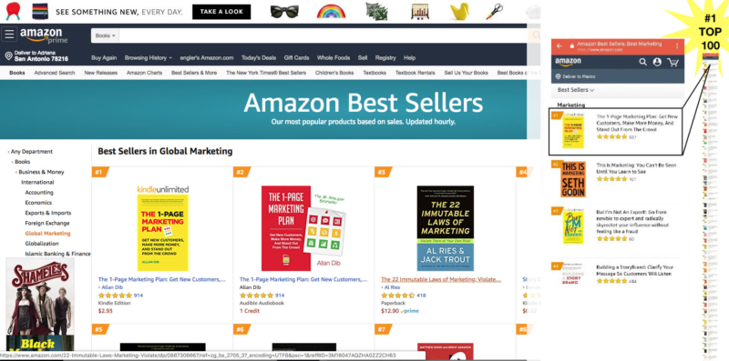 the 1-page marketing plan amazon best seller number 1